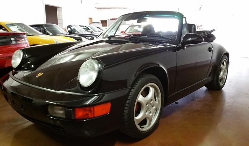 SOLD.. 1990 Porsche C4 Black on Black Cabriolet 5 Speed