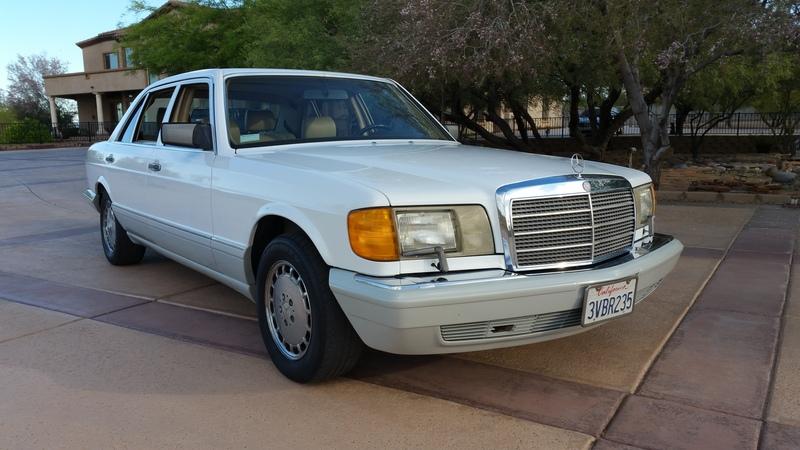 1990 Mercedes 560 SEL 67,000 miles White on Palomino