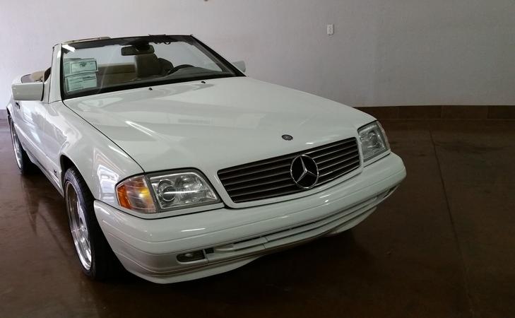 SOLD.. 1997 Mercedes SL600 V12 White