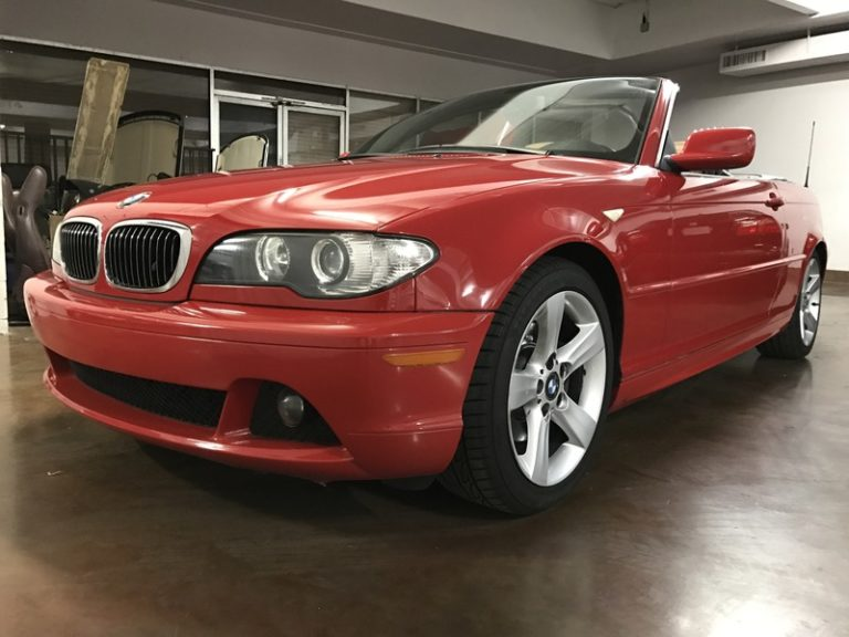 2005 BMW 325ci Convertible Red on Natural Brown